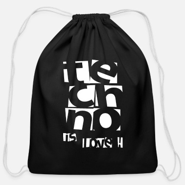 Clubbers Techno - Techno music - Techno is love - Cotton Drawstring Bag