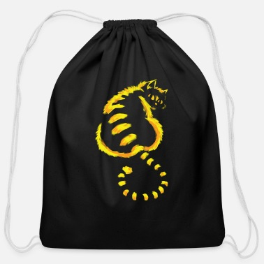 Cat Awesome cat design in the dark - Cotton Drawstring Bag