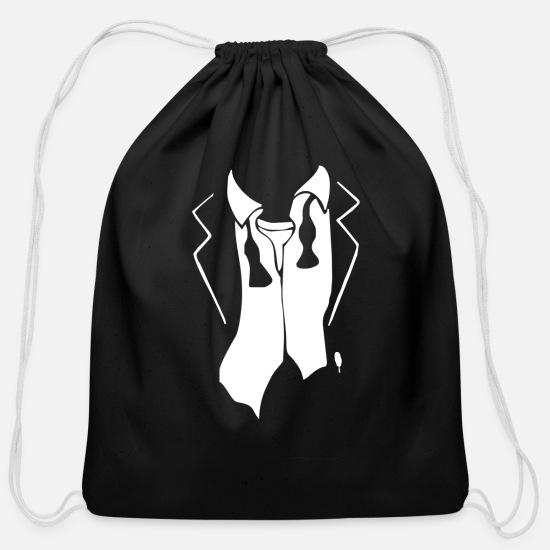 Movie Bags & Backpacks - Tuxedo After Party - Cotton Drawstring Bag black