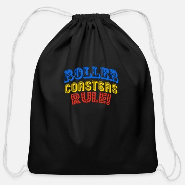 Roller Coaster Roller Coasters Rule - Cotton Drawstring Bag