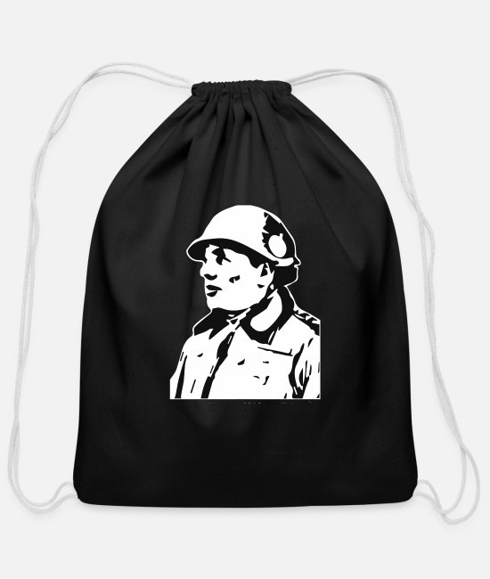Nuts Bags & Backpacks - NUTS - Cotton Drawstring Bag black