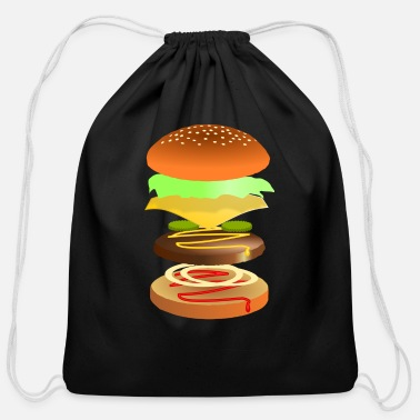 Cheeseburger Cheeseburger - Cotton Drawstring Bag