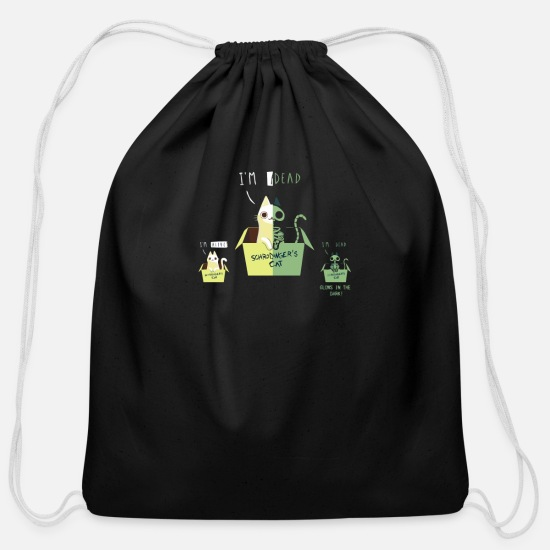 Party Bags & Backpacks - SCHRODINGER S NIGHT - Cotton Drawstring Bag black