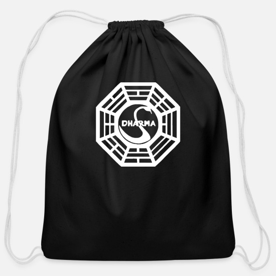 Initial Bags & Backpacks - Dharma Initiative - Cotton Drawstring Bag black