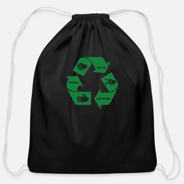Rock Paper Scissors Rock Paper Scissors - Cotton Drawstring Bag