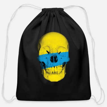 Popartcontest Painted Skull - Cotton Drawstring Bag