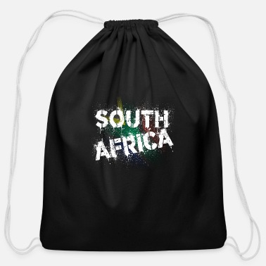 Cape Town South Africa white - Cotton Drawstring Bag