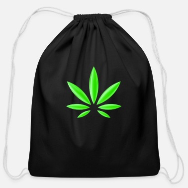 Trippy Weed Cannabis Weed Marijuana Trippy Present - Cotton Drawstring Bag