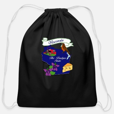 State Of Wisconsin WISCONSIN - Cotton Drawstring Bag