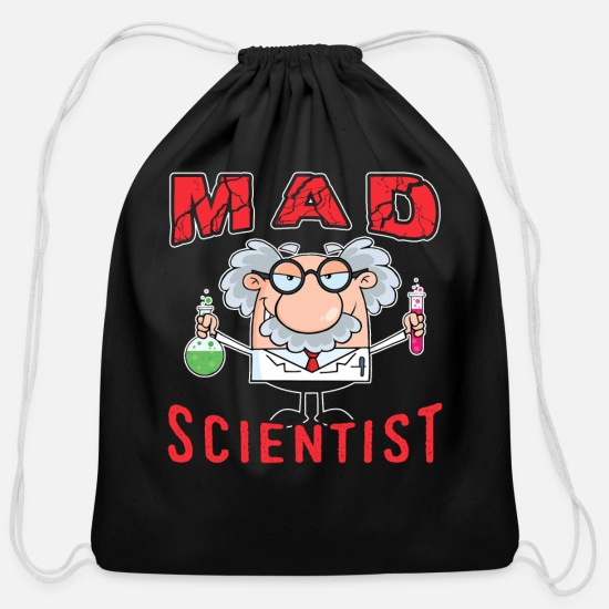 Gift Idea Bags & Backpacks - Scientist - Cotton Drawstring Bag black