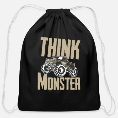 Grave Monster Trucks Big Trucks - Cotton Drawstring Bag