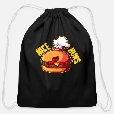 Beef Burger Cheeseburger Hamburger BBQ - Cotton Drawstring Bag