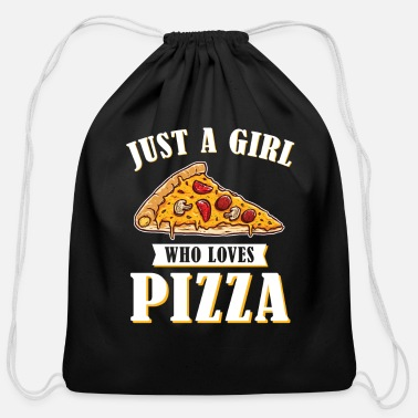 Food Pizza - Cotton Drawstring Bag