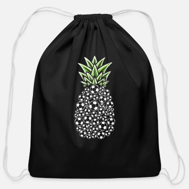 Pineapple And Soccer Pineapple Aloha Beaches Hawaii Soccer Player - Cotton Drawstring Bag