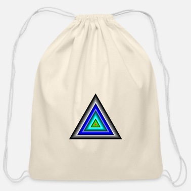 Triangle Triangles in Triangle - Cotton Drawstring Bag