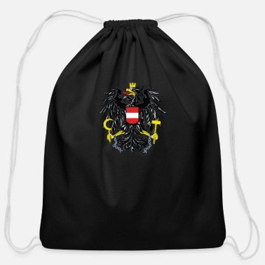 Austria National Coat Of Arms Of Austria - Cotton Drawstring Bag