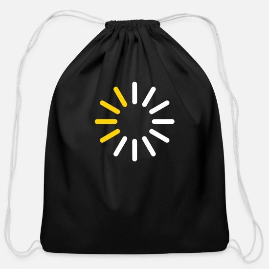Progress Bags & Backpacks - Progress Indicator For A Download - Cotton Drawstring Bag black