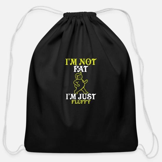 I am not fat i am just fluffy Cotton Drawstring Bag
