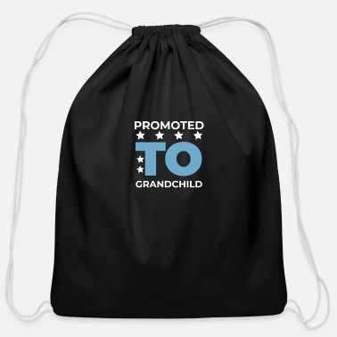 Grandchild Promoted As Grandchild - Funny T-Shirt - Cotton Drawstring Bag