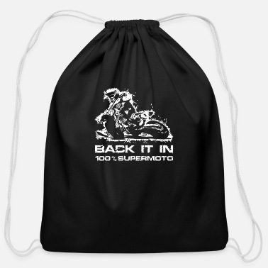 Supermoto Back it in Supermoto - Cotton Drawstring Bag