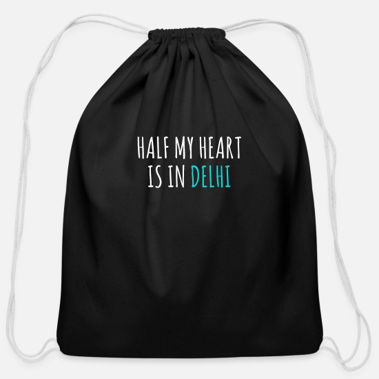 Delhi Bags & Backpacks - Delhi - Cotton Drawstring Bag black