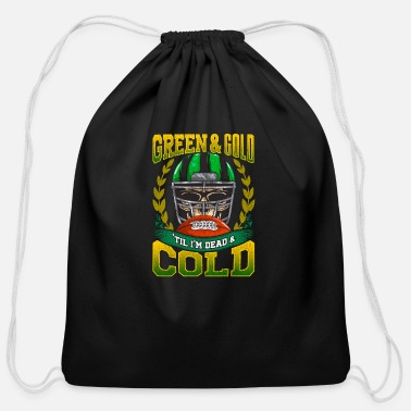 Green And Gold Green and Gold - Cotton Drawstring Bag