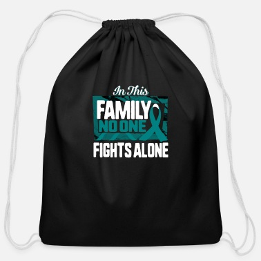 Butterfly Ovarian Cancer In This Family No One Fights Alone - Cotton Drawstring Bag