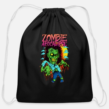 Apocalypse zombie apocalypse - Cotton Drawstring Bag