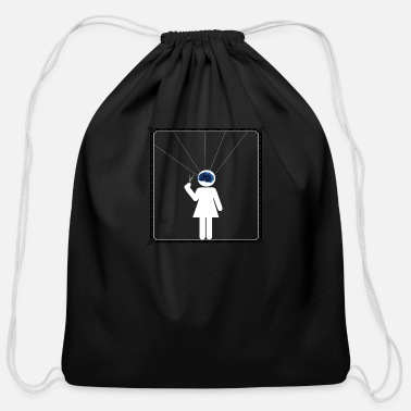 Puppet Theatre The puppet - Cotton Drawstring Bag