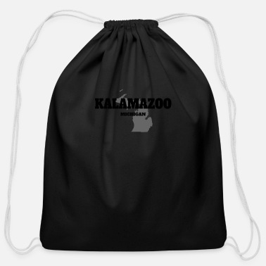 State MICHIGAN KALAMAZOO US STATE EDITION - Cotton Drawstring Bag