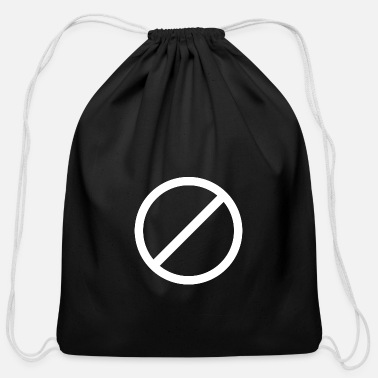 Not Allowed Image: Not allowed (white) - Cotton Drawstring Bag