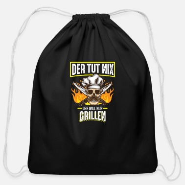 Smoker He won't do anything, he just wants a barbecue - Cotton Drawstring Bag