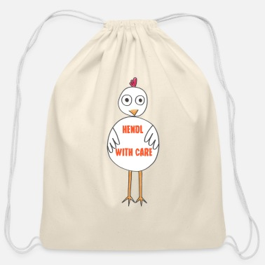 Care hendl with care - Cotton Drawstring Bag