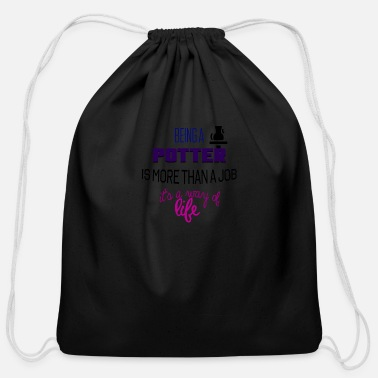 Potter Being a potter - Cotton Drawstring Bag