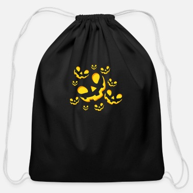 Halloween pumpkins. Yulic Desing. - Cotton Drawstring Bag