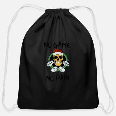 Deaths Head Death head with a dumbbells - Cotton Drawstring Bag