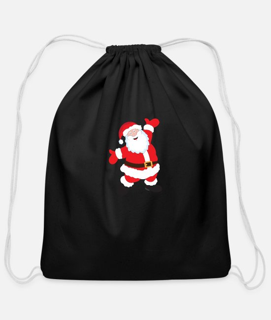 Sport Bags & Backpacks - Santa Claus - Cotton Drawstring Bag black