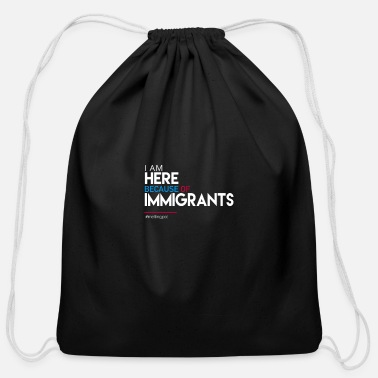 Immigrant immigrants - Cotton Drawstring Bag