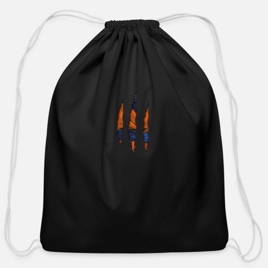 Saiyan Bags & Backpacks - Goku Ripped - Cotton Drawstring Bag black