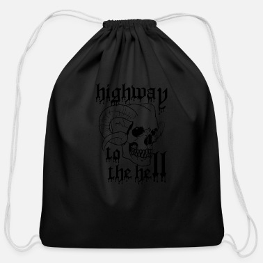 Highway highway to the hell - Cotton Drawstring Bag
