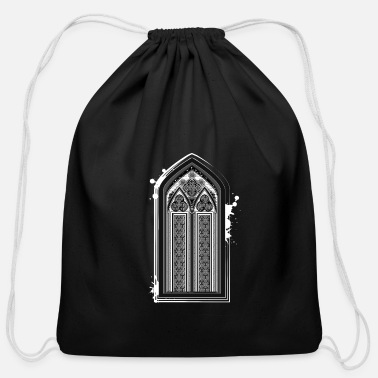 Gothic church window - Cotton Drawstring Bag