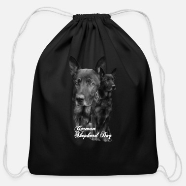Dog Sports German Shepherd, dog,Dog sports,dog head, Dog face - Cotton Drawstring Bag