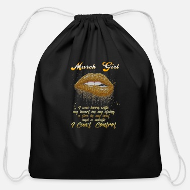 March Girl March girl - Cotton Drawstring Bag