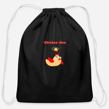 Blabber chicken idea - Cotton Drawstring Bag