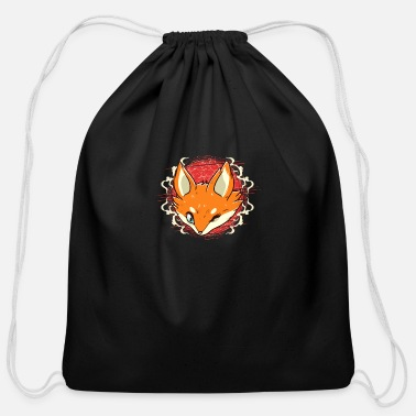 Fox - Cotton Drawstring Bag