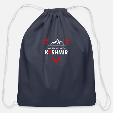 Freedom We Stand With Kashmir India Free Kashmir - - Cotton Drawstring Bag