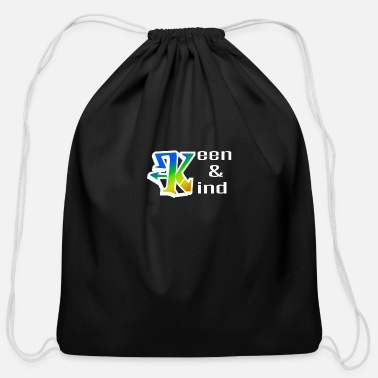 Keen keen and kind - Cotton Drawstring Bag