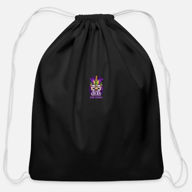 Mask Mardi Gras Parade T-Shirt New Orleans Louisiana Mask Feather - Cotton Drawstring Bag