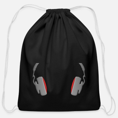 Mp3 Headphones Cool Simply and Classy - Cotton Drawstring Bag