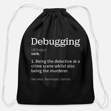 Web Debugging | Funny gift for Programmer - Cotton Drawstring Bag